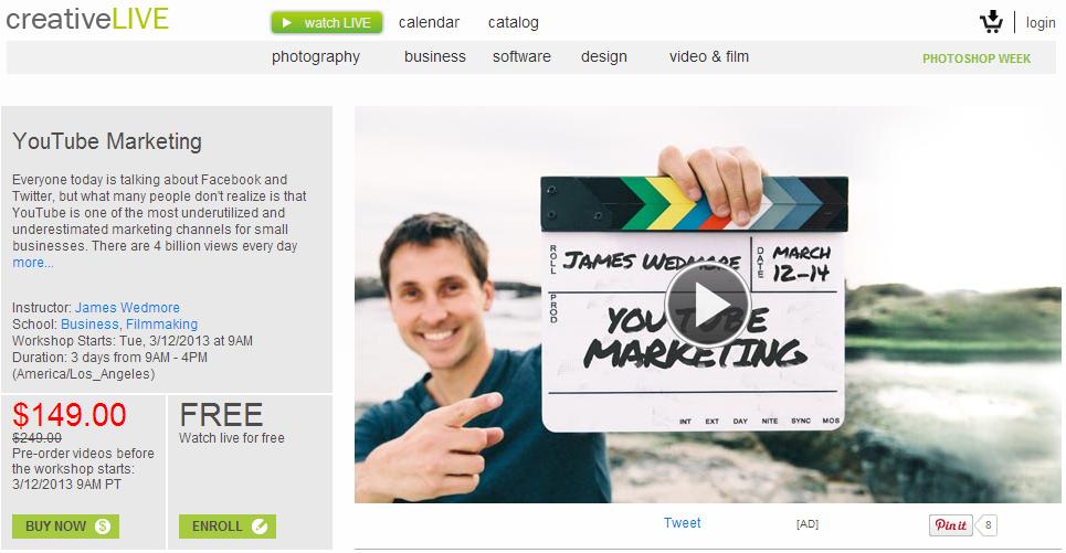 CreativeLive: Youtube marketing