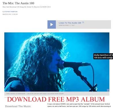 NPR: Альбом The Austin 100 доступен для бесплатного скачивания