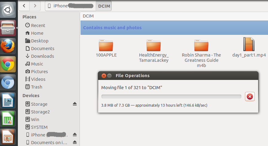 Ubuntu 13.04_Копирования на iPhone