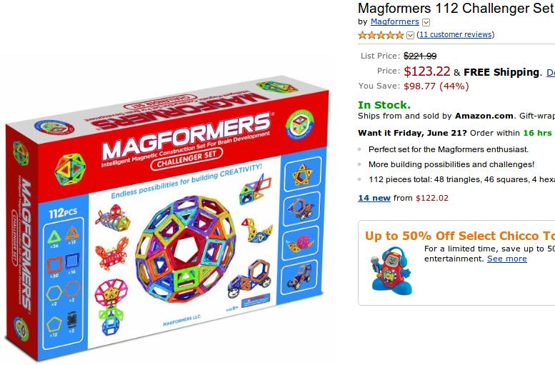Magformers 112 Challenger Set Amazon