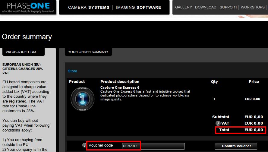 PhaseOne предлагает Capture One Express 6 (альтернативу Adobe Lightroom) бесплатно