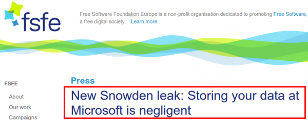 New Snowden leak  Storing your data at Microsoft is negligent