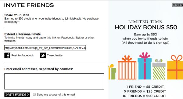 Myhabit: получить по 5 долларов за каждого зарегистрировавшегося по вашей ссылке