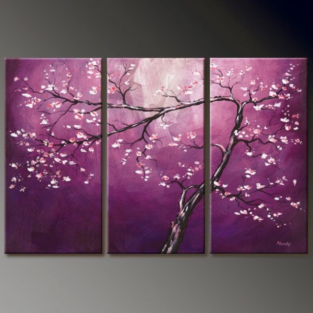 Home decor canvas art oil painting reproductions for Three canvas painting ideas