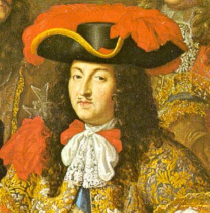 Людовик XIV в шейном платке