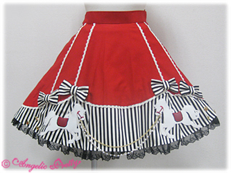 Angelic Pretty Carnival Wappen Skirt Red