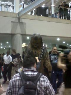 Chewie being interviewed