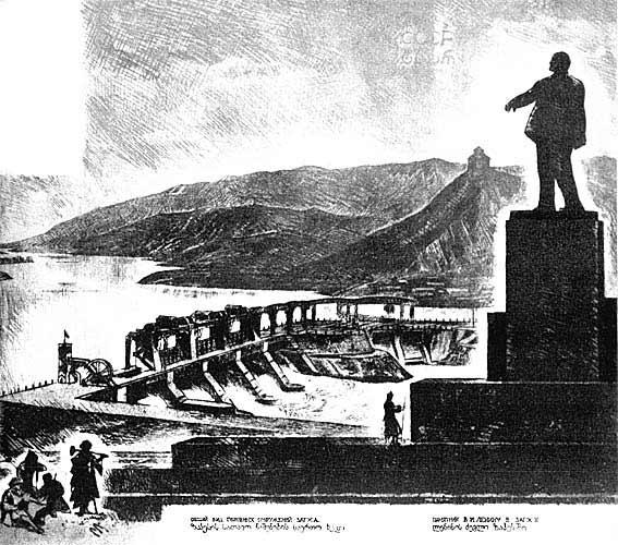 I._Nivinskiy_-_Lenin's_monument_at_ZAGES