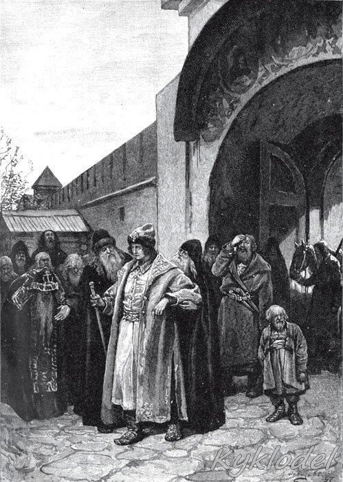 Приезд Петра1 в троице сергиеву обитель 1789г