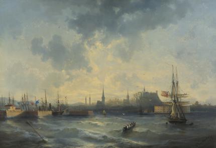 1852. А.П. Боголюбов. Вид на Ревель с моря
