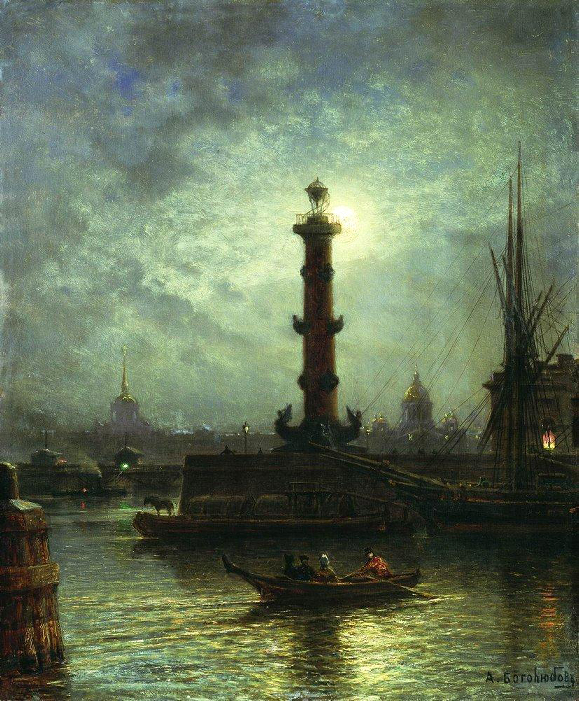 bogolyubov_alexey_228_moonlit_night_on_the_neva_river_near_the_exchange