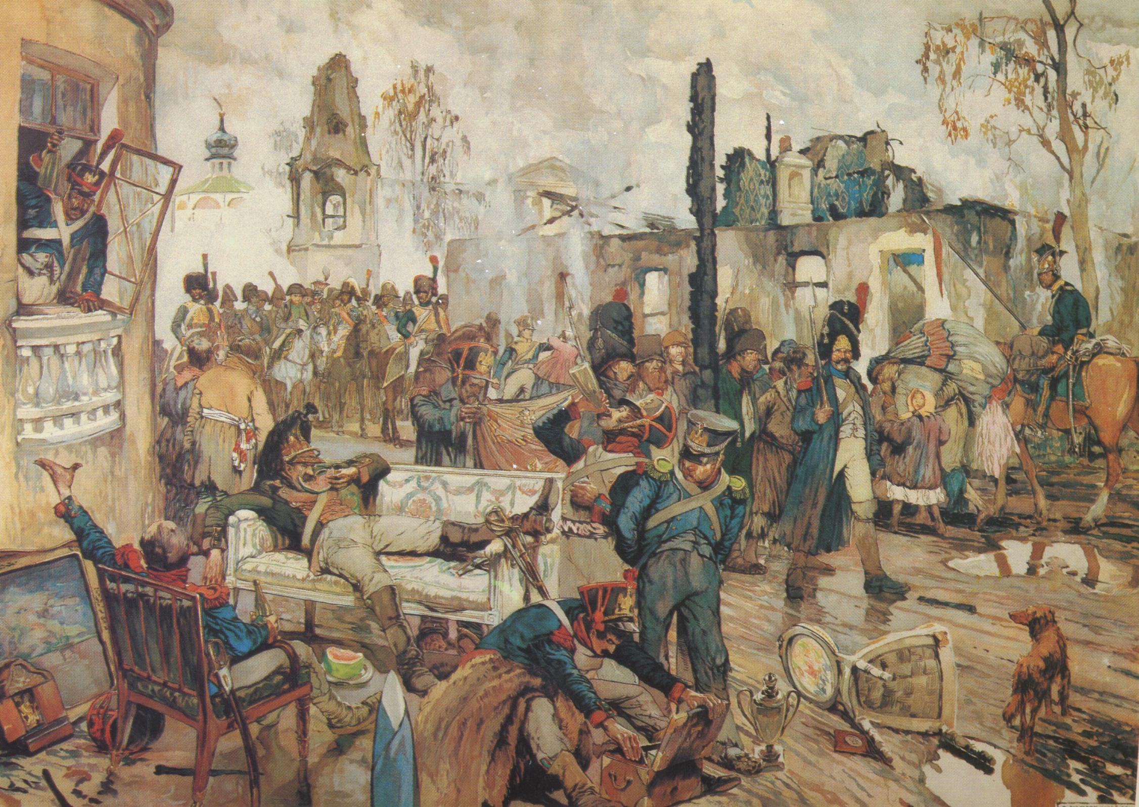 Французы в москве в 1812 году. оккупация москвы французами.