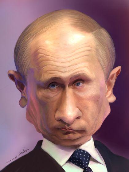 путин_карикатура_портрет