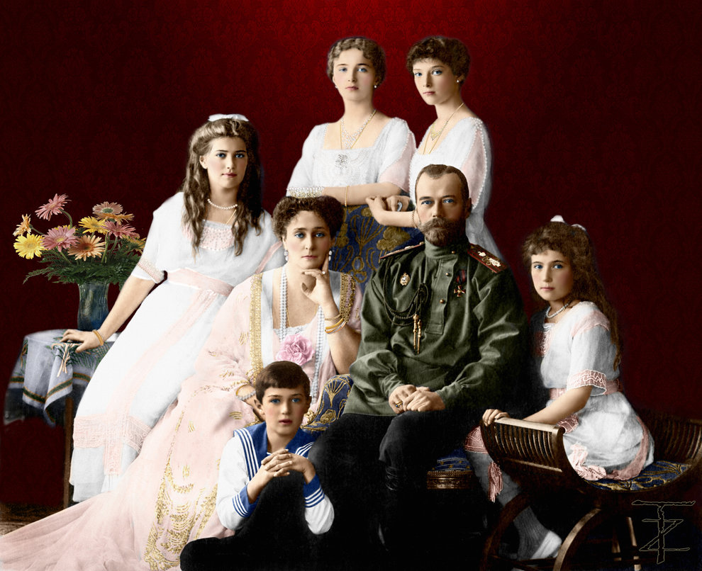 family_nicholas_ii_of_russia_1913_by_tashusik-d6qwkfj