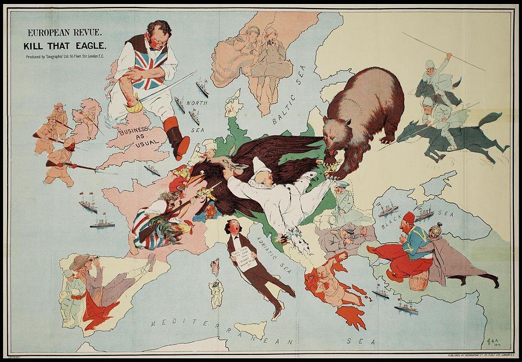 Cartoon-over-de-Eerste-Wereldoorlog