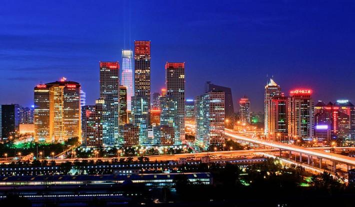 北京国贸CBD夜景-710x415