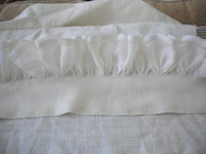 17th Century gathered shirt 3