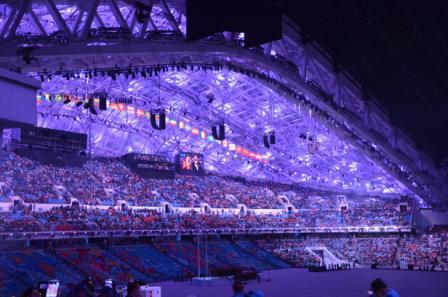Стадион Фишт  в офидании открытия Олимпиады