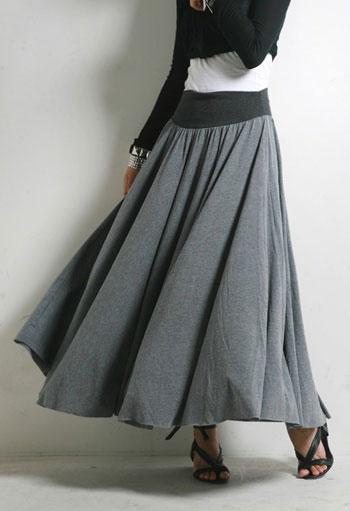 Сшить теплую юбку в пол