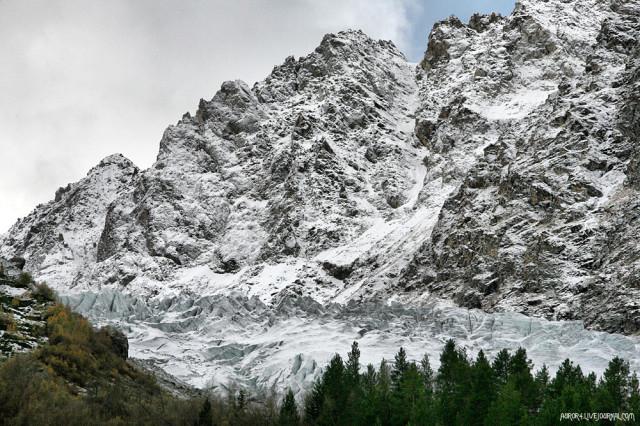 Ледник в Адыл-Суу, возле а/л Джан-Туган.