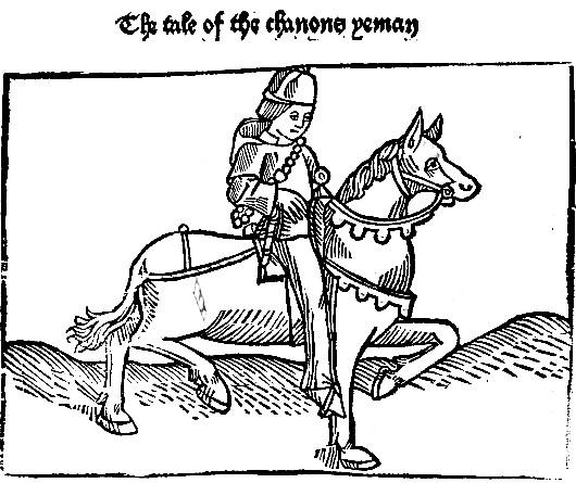 Слуга каноніка (ілюстрація з видання Кекстона, XV ст.)