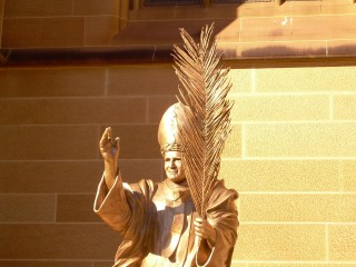 Statue of John Paul II, near St Mary's Cathedral, Sydney.