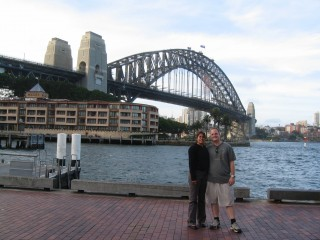 Peter and Trace at the Harbour Bridge