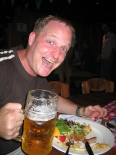 Me. Happy with Löwenbräu