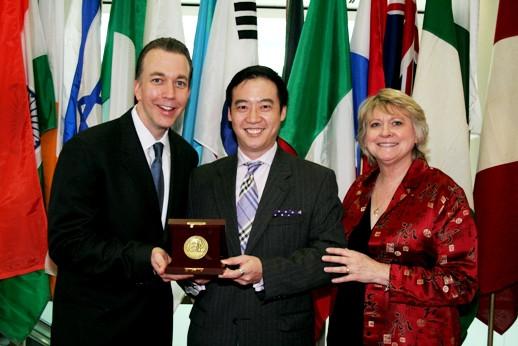 The Medal presentation ceremony.