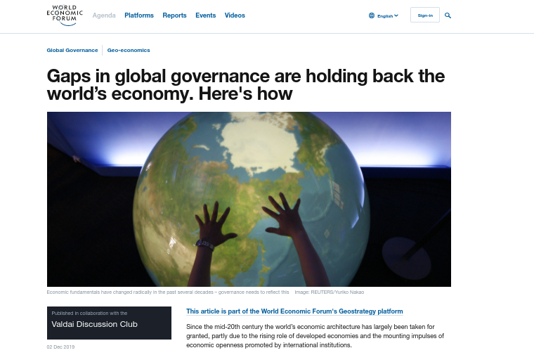 """This paper from Russia's premier think-tank, Valdai Club (attended yearly by Putin & Co, alongside """"experts"""" from the London School of Economics, Harvard, Stanford, Johns Hopkins & Tel Aviv Universities) is literally a socio-economic proposal for the WEF Great Reset and the 4th Industrial Revolution. The media-ops portray Putin as some """"anti-globalist"""", but the only way Putin & his oligarch buddies have gotten filthy rich is by globalization."""
