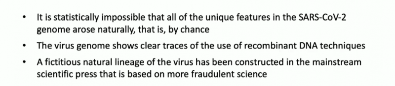 Dr Palmer's Three Conclusions About SARS-CoV-2.