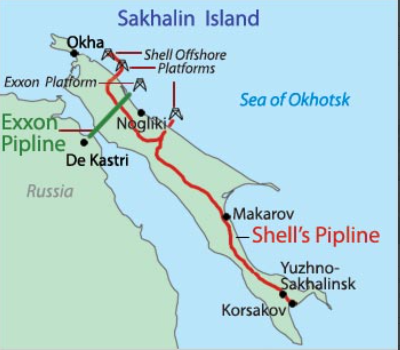 EXXON AND SHELL PIPELINES IN RUSSIA