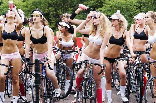 Girls, bikes