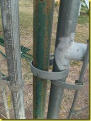 fencing post closeup