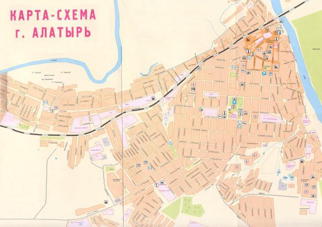 Карта-схема города Алатырь