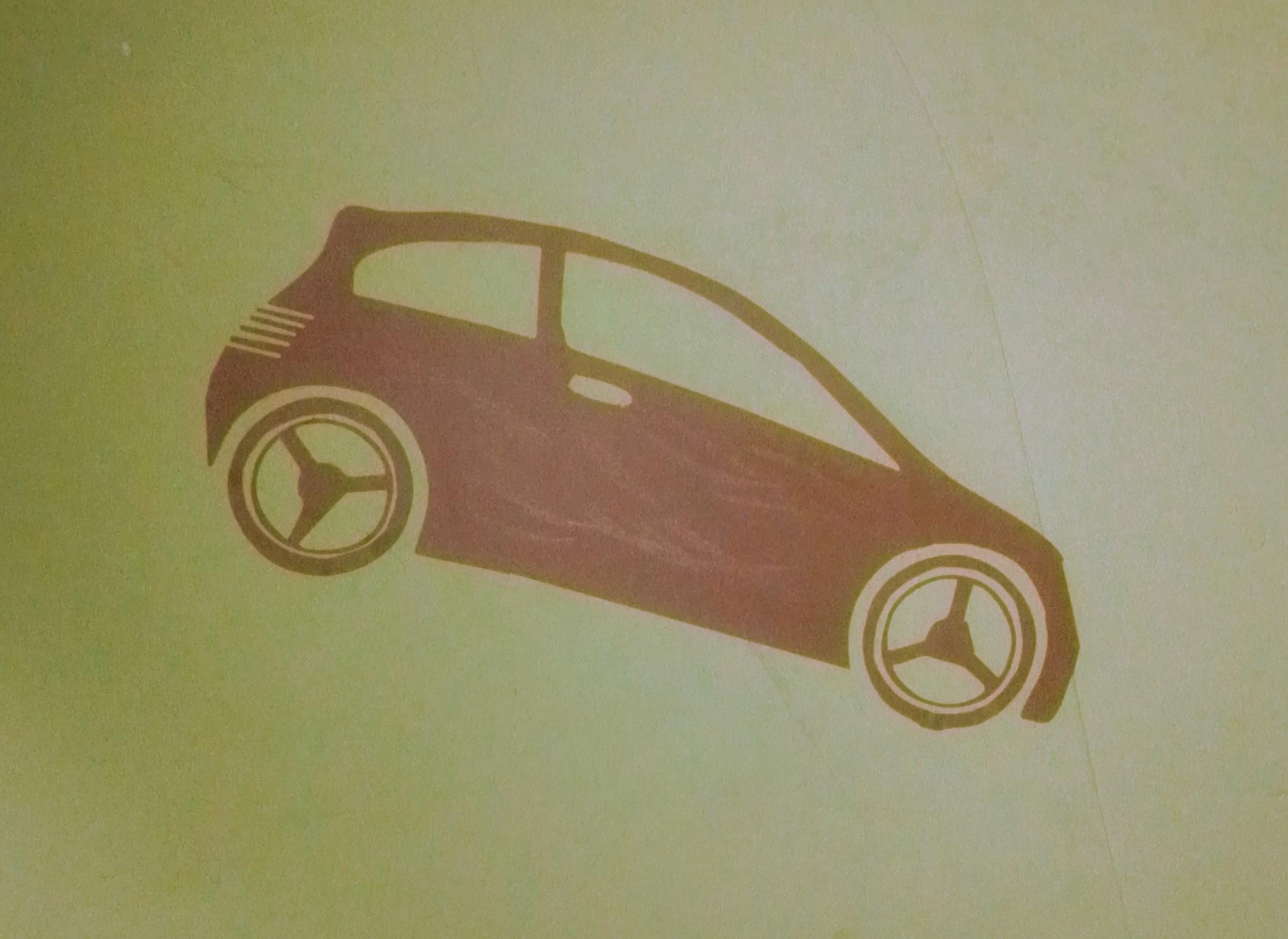 Машинка на стене