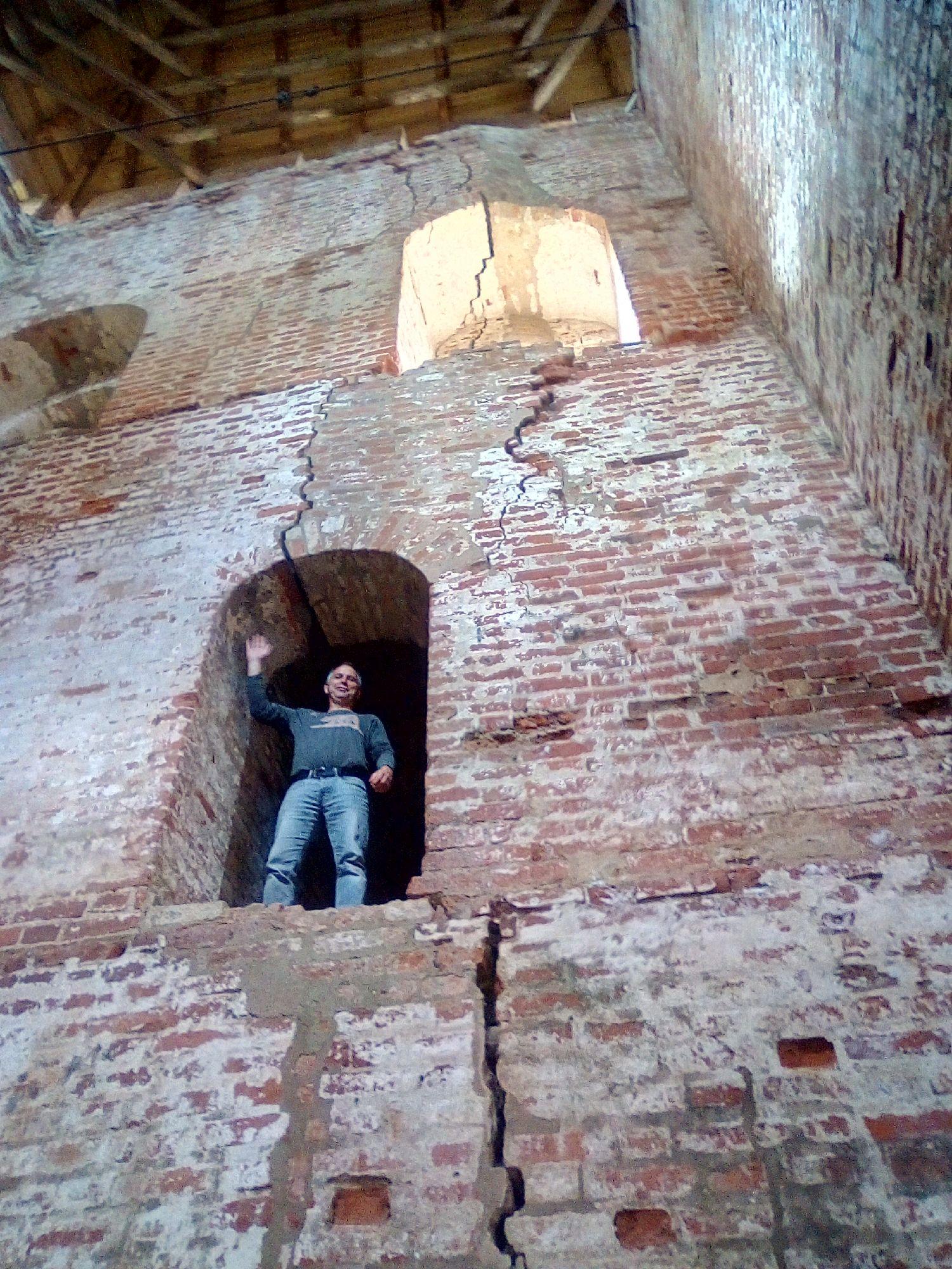 Внутри башни Воронина