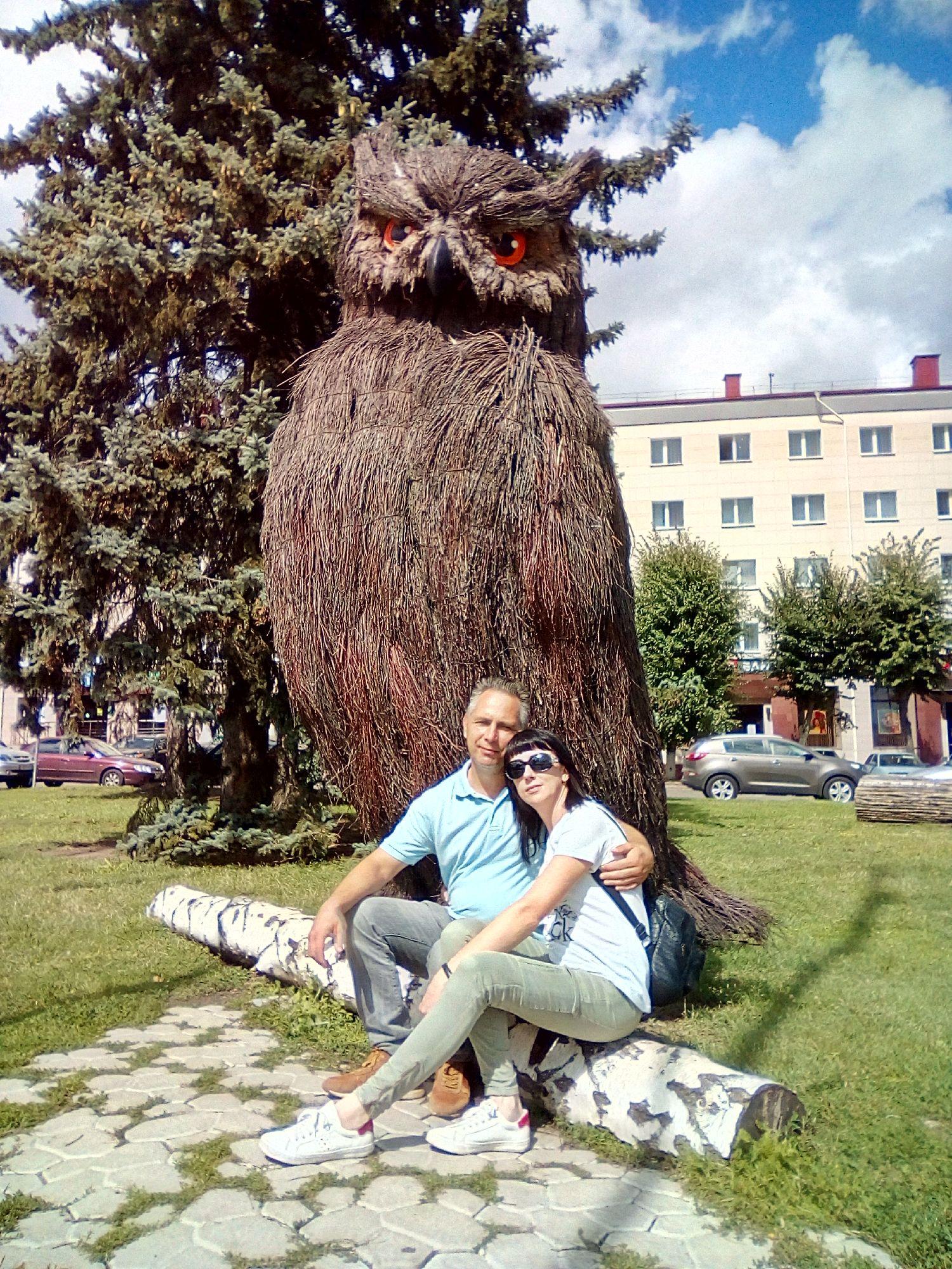 Сова на пл. Ленина. г. Брянск
