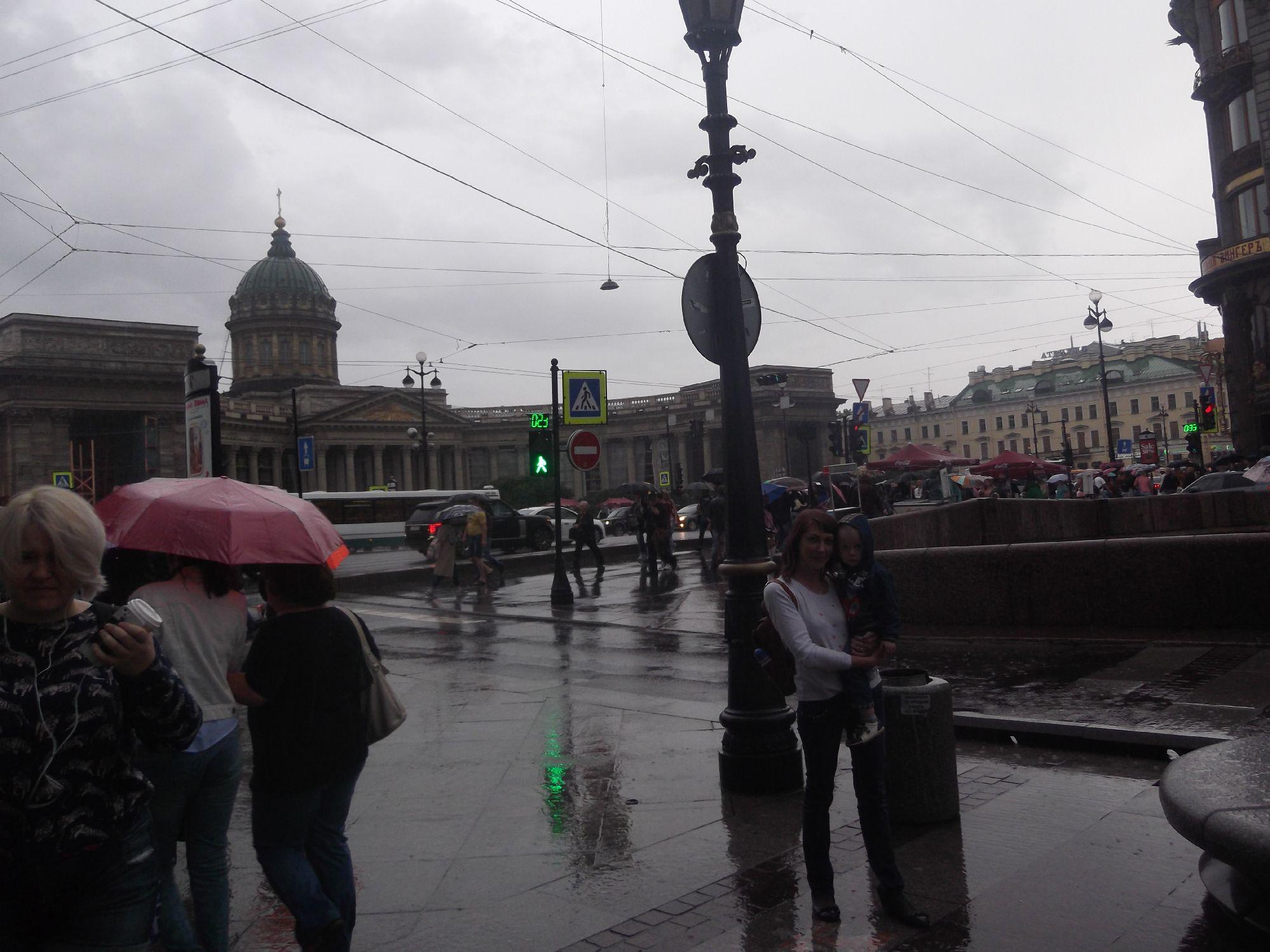 И снова дождь в Питере, но уже несколько лет спустя)