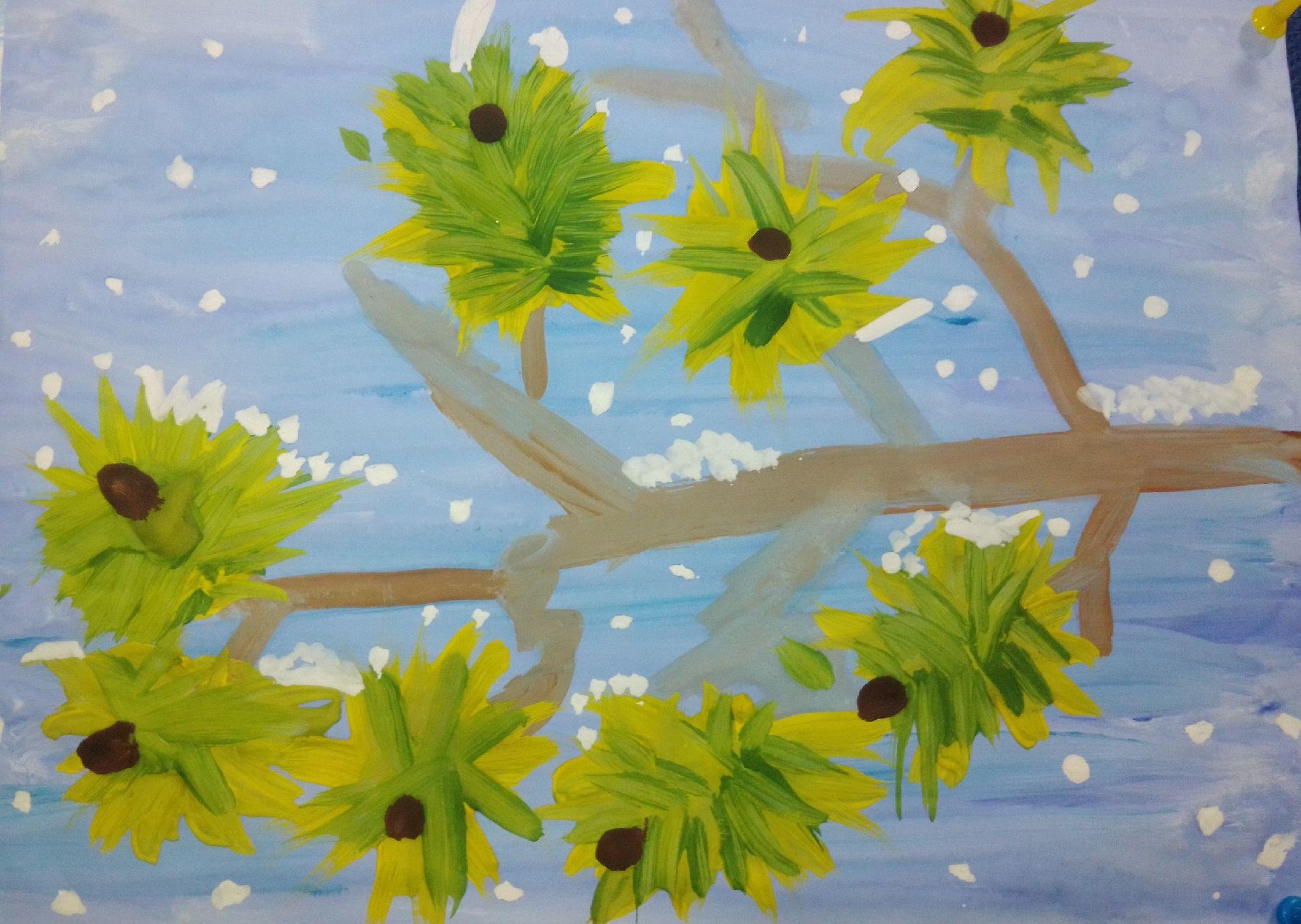 """Рисунок для школьной выставки с той самой """"Территории творчества"""" . По-моему для 7-летнего мальчика не увлекающегося ранее рисованием - очень даже неплохо!"""