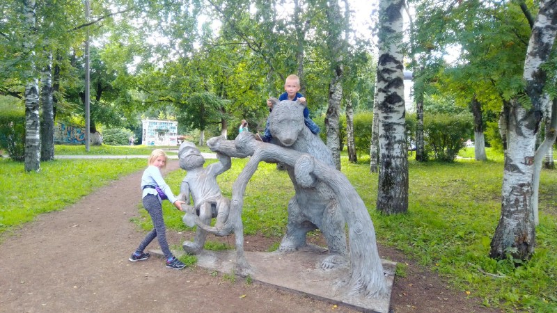 На территории парка. г.Вологда