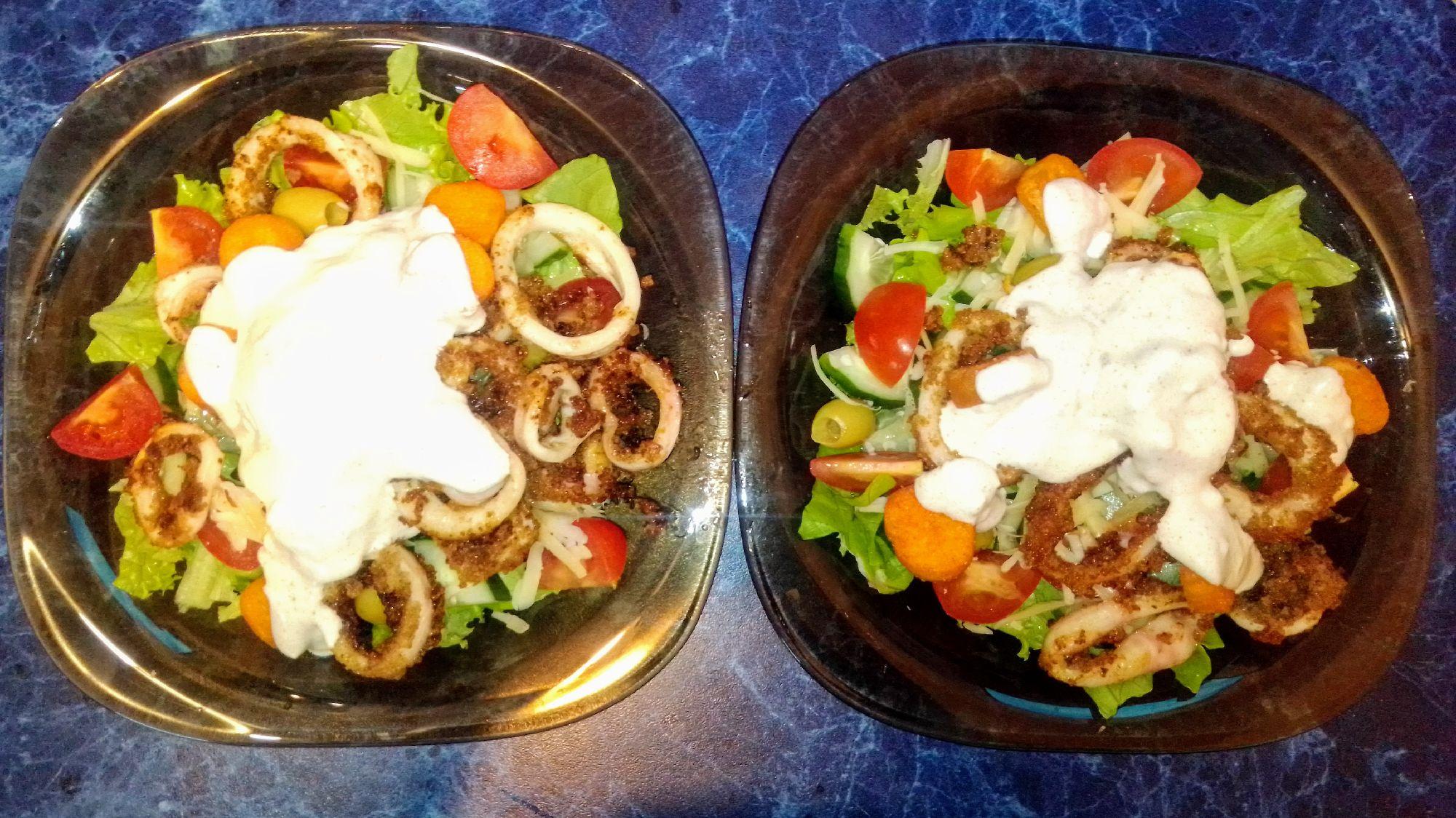 Лёгкий и питательный салат на ужин
