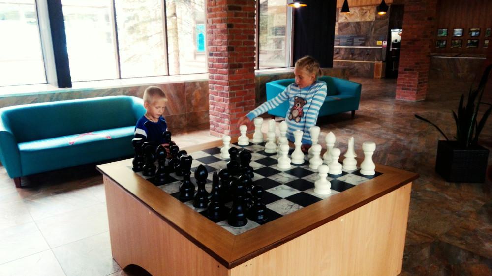 Шахматная доска в питьевой галерее
