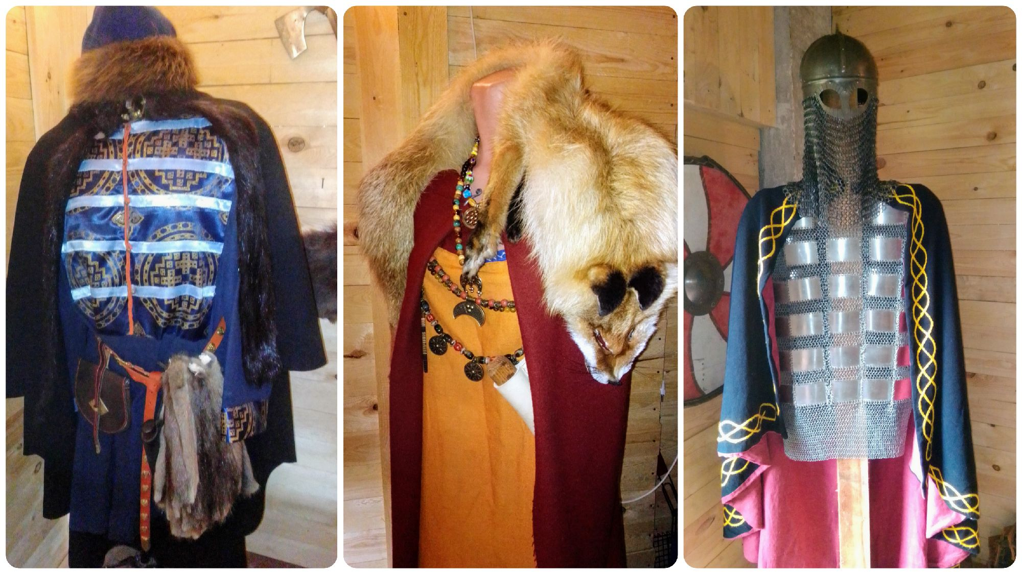 Слева как раз-таки костюм Новгородского князя)