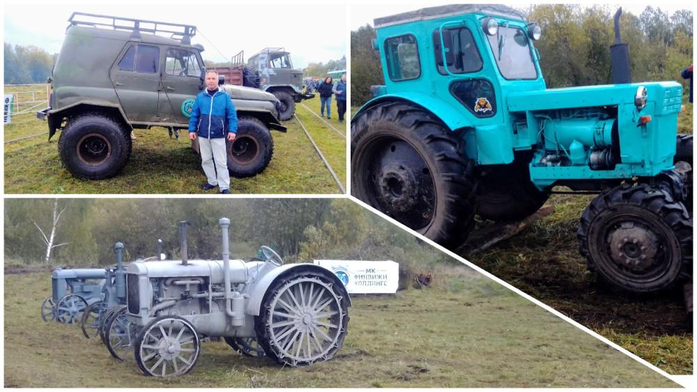 Через брёвна трактора не всегда проезжали с первой попытки. УАЗик бы справился)