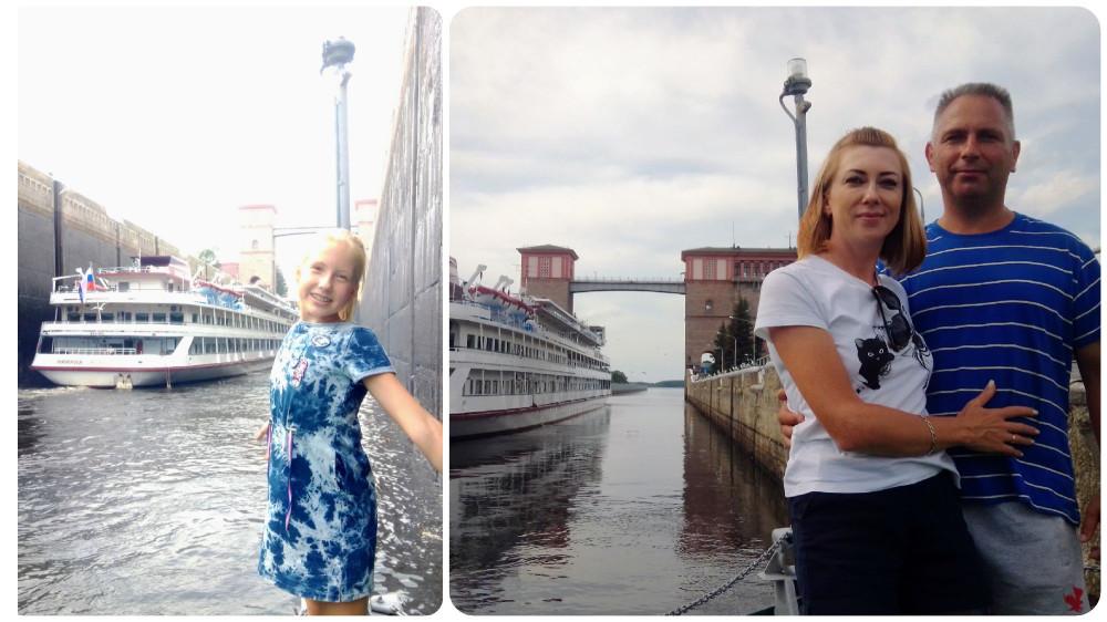 Разница в уровне воды. Слева — до наполнения, справа- после!