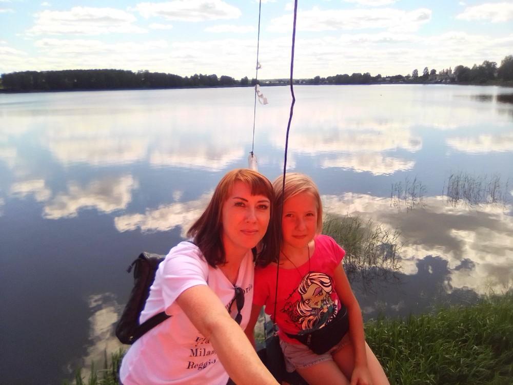 Облака в Бологовском озере