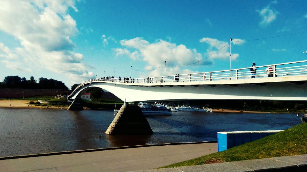 """""""горбатый"""" мост. Великий Новгород"""