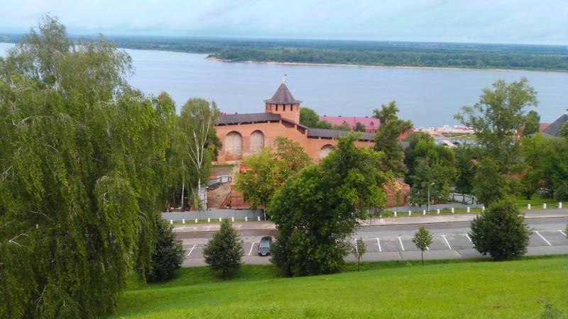 Вид на Волгу со смотровой площадки Кремля