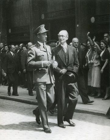 Гюисманс и король Бельгии Леопольд III